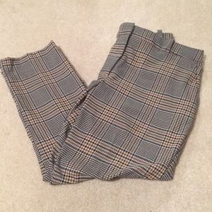 H&M plaid slacks